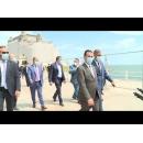 Vizita premierului Ludovic Orban, împreună cu ministrul economiei, Virgil Popescu, și cu ministrul lucrărilor publice, Ion Ștefan, la Șantierul de Reabilitare a Cazinoului Constanța